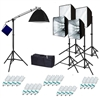 Pro 5-Head 4000 W Continuous Light Photo Studio Softbox Fluorecent Boom Kit