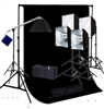 Photo Softbox 4000 W Video Continuous Lighting Kit 10'x12' black backdrop set