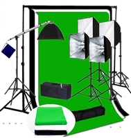 Photo Softbox 4000 W Video Continuous Lighting Kit  muslin backdrops kit