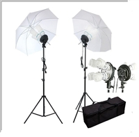 Pro 1600W PHOTO LIGHTING KIT STUDIO UMBRELLA LIGHT SET VIDEO PORTRAIT STILL LIFE