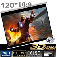 "Pro 120"" 16:9 Electric Auto Projector Motorized Projection Screen Home theater"