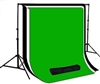 NEW Backdrop Stand System & Muslin 10'x12' Black /White /Green Backdrops Kit