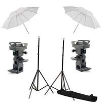 Brand New Stobist Photo Studio Umbrella Flash Mount stand Kit & case 4 speedlite