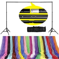 New Photo studio Backdrop support system & optional 10ft x 20ft F/C backdrop Kit