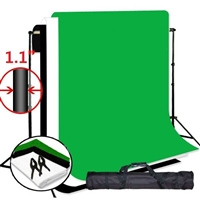 "NEW Photo Studio 9'x10' Backdrop Support Stand Kit & 10""x12' muslin backdrops"