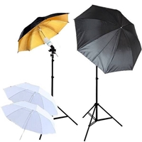 NEW Studio Gold/silver Translucent Umbrella Light Continuous Video Lighting Kit