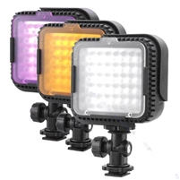 Pro VL-480 2.9W 48-LED Video Light - Black (3 x AAA)