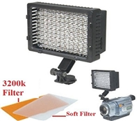 Pro 126 LED Light for Camera Video Camcorder Hot Shoe Light Kit Canon NIkon Sony