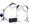 Continuous Light Photo Studio Octagon Rapid Softbox Fluorecent Boom stand Kit