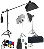 NEW PRO 3 HEAD COMPLETE STROBE STUDIO FLASH MONOLIGHT SOFTBOX BOOM STAND SET