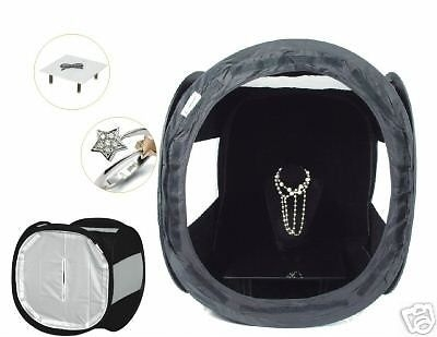 "Pro 16"" Black Studio Light Photo Jewellery Tent Product Photography"