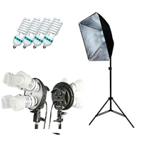 Pro Photo Studio Softbox Continuous 800W Lighting kit Video fluorescent Set