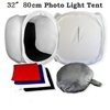 "Pro 80cm/32"" Studio Cube Photo Light Tent velvet backdrops & top /front opening"