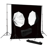 Photo Octagon Softbox 2000 watt Video Continuous Lighting Kit backdrop support