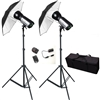 PRO 1200W/S STROBE STUDIO FLASH MONOLIGHT BOWENS COMPATIBLE UMBRELLA SET
