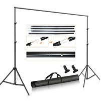 NEW Studio 7'x10' Backdrop Support Stand Kit with 2 x clamps & 5'x7' backdrops
