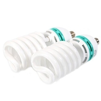 NEW 2x 150 W CFL 5500K Fluorescent Continuous Pure White Light Bulbs 8200 LM