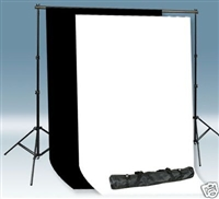PRO Backdrop Stand 10'x20' High Key Muslin Backdrop Kit