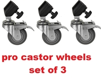 Photo Video Studio Professional Castor Wheels Set of Three for Light stand