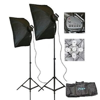 3000 Watt Photo Studio Continuous Softbox Fluorecent Video Lighting Kit