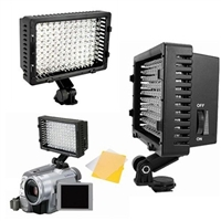 Pro 160 LED Camera Dimmable AC/DC Video Camcorder Hot Shoe Lamp Light