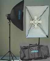 Pro 3000 W Video Photo Studio Continuous Fluorescent lighting Softbox light Case