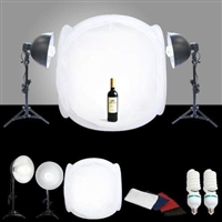 STUDIO IN A BOX 1000 watt output PHOTO LIGHT TENT PHOTOGRAPHY SET $399