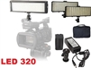 Pro 320 LED Bi Color Dimmable LED Continuous Light Video Photo AC/DC Battery Kit
