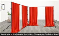 PRO Heavy Duty 10' X 22' Background Stands Kit Backdrop Support system WARRANTY