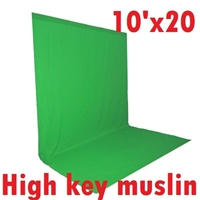 Pro Photo Studio CHROMA KEY HIGH KEY MUSLIN GREEN 10'x20' Backdrop Backkground