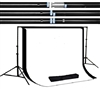 NEW Heavy duty 10'x10' Backdrop Stand High Key Muslin 10'x12' Background Kit