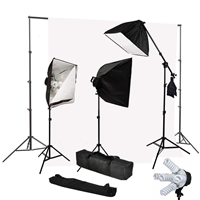 Photography Softbox 2500W Fluorescent video Continuous Boom Light Backdrop Kit