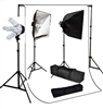 Photo Softbox 2000 W Video Continuous softbox lighting kit white muslin backdrop
