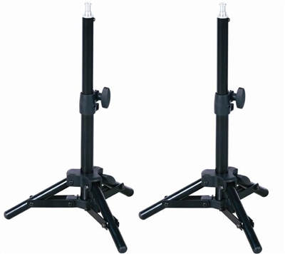 NEW 2 x Table Top Light Stand Photo Studio Background Lighting Stands