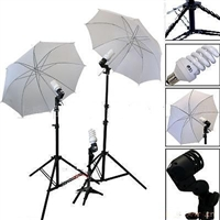 3-HEAD PHOTO LIGHTING PHOTO STUDIO UMBRELLA LIGHT SET