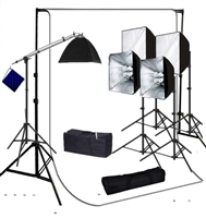 Photo Softbox 4000 W Video Continuous Lighting Kit  10'x12' white backdrop set