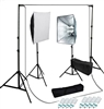 Photo Softbox 1600 watt Video Continuous Lighting kit  white backdrop stand kit