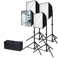 "Photography 24"" x 36"" Softbox 3200 Watt Fluorescent video Continuous Lighting Kit"