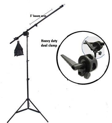 NEW Studio Boom Stand Photography Boom Arm Sand bag 8' Lighting Stand Kit