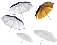 Set of 5 Photo Umbrella Silver Gold White Studio Kit for Monolight Speedlight