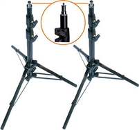 Pro Photo Studio 2 PCS 10' Air Cushioned Heavy Duty Light Stands WARRANTY