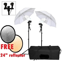 PHOTOGRAPHY STUDIO UMBRELLA PHOTO LIGHTING KIT CONTINUOUS FLUORESCENT VIDEO set