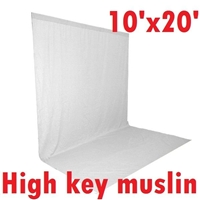 Pro 10ft x 20ft WHITE High Key Muslin Heavy duty Background Backdrop