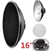 "16"" Beauty Dish Honeycomb & White Diffuser Alien Bees / Balcar/ white lightning"