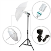 Single Translucent Umbrella Video background Light Kit