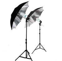 NEW Studio black/silver Umbrella Light Continuous Video Lighting Kit