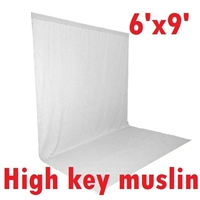 Pro 6ft x 9ft WHITE High Key Muslin Heavy duty Background Backdrop