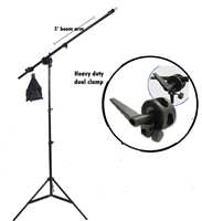NEW Studio Boom Stand Photography Boom Arm Sand bag Lighting Stand Kit
