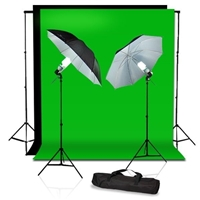 Photo Studio Reflective Umbrella Continuous Light Muslin Backdrops Support Kit