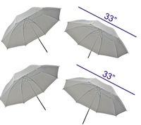 "Brand new  4 x 33"" photography translucent umbrellas"